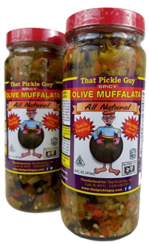 That Pickle Guy Spicy All Natural New Orleans Style Olive Muffalata (16 oz) (2 Jar)