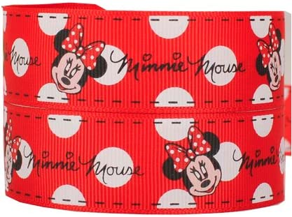 Miraculous 2M X 22Mm Cute Red Minnie Mouse Grosgrain For Cakes Birthday Funny Birthday Cards Online Overcheapnameinfo