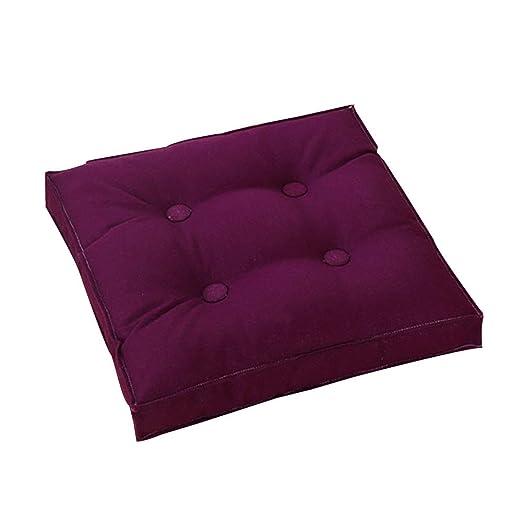 Seat cushion Cojín De Suelo Cuadrado De,Color Sólido Lino ...