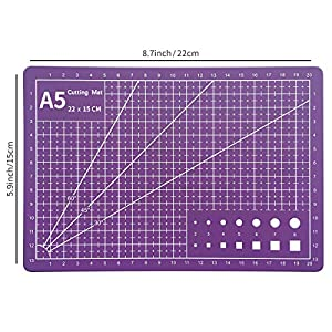 Precision Craft Knife Upgrade Exacto Knife Hobby Knife Exacto Knife Kit Purple Cutting Mat 80 Spare Exacto Knife Blades for Art, Scrapbooking,Stencil, Architecture Modeling,Scrapbooking (Color: Purple)