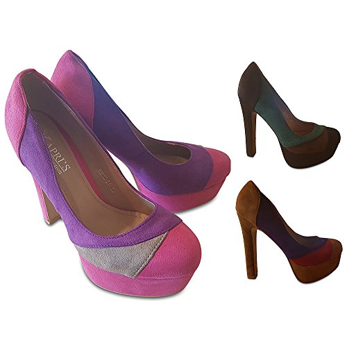 Pink KAPRIS Beige Scarpe donna Collection Purple col tacco Axa4Tq