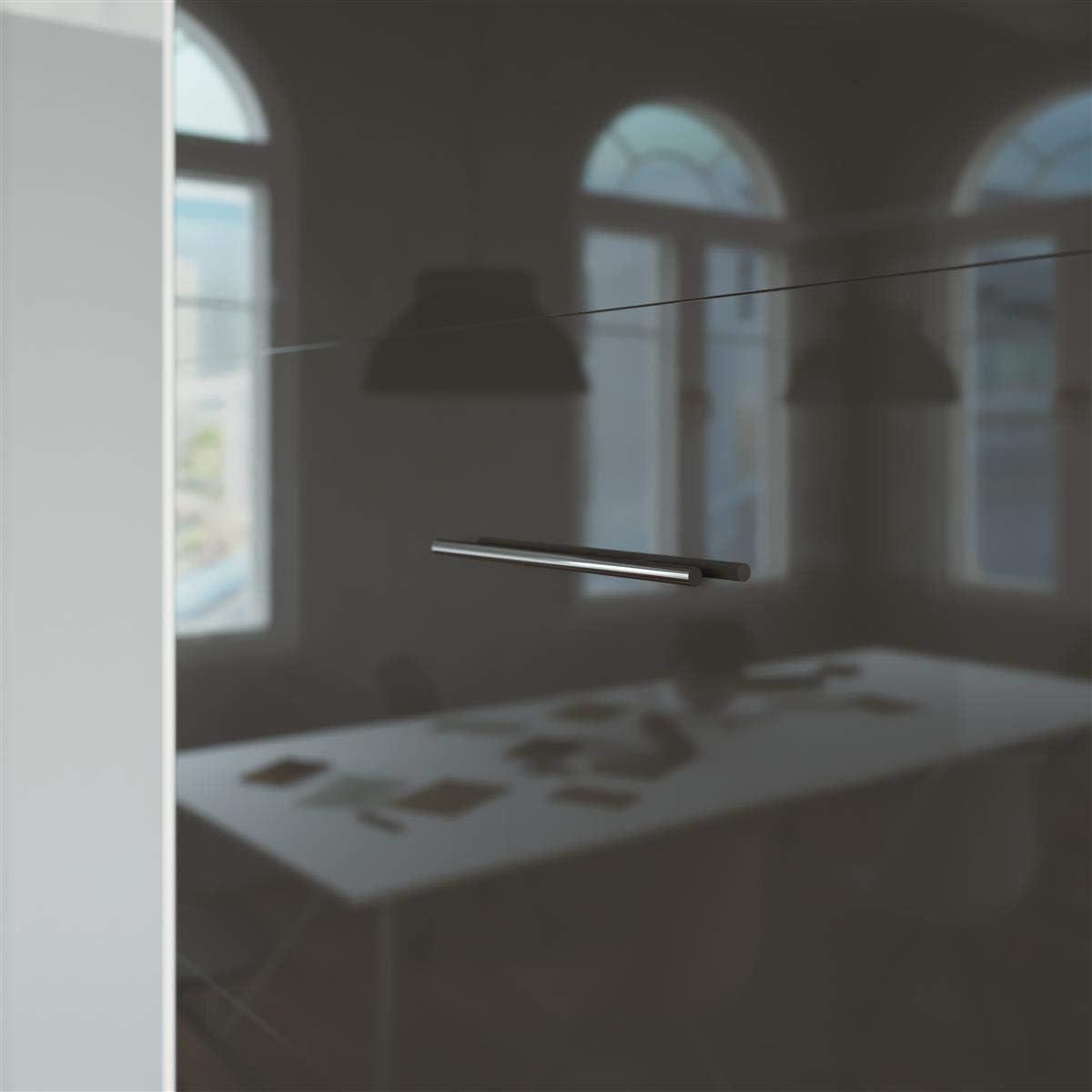 SMARTBett Basic Cama abatible Cama Plegable Cama de Pared (Blanco/Antracita Brillante, 90 x 200 cm Vertical)