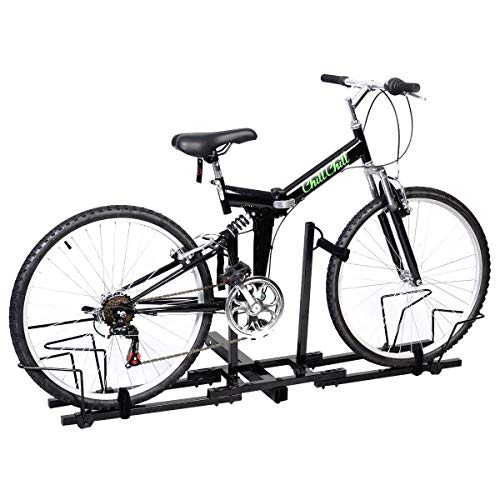 (ReunionG 2 Bike Bicycle Carrier Hitch Receiver, Upright Bike Rack Hitch, Carrier Platform Hitch Rack for Truck SUV)