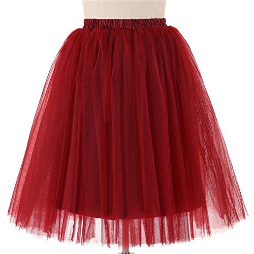Adulte Plisse Haute pour Dancing Tulle Du Tutu Jupe Court Midi Ballet Femmes Qualit en Jupon Sixcup de Vin Courte WxgOqSHfac