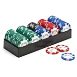 These are Bicycle's Premium Tournament 8 gram Poker Chips with Tray. You won't be able to put these Casino quality chips down! Clay-filled for true tournament feel, sound and action! Two-color design is molded into the chip using the same technology ...