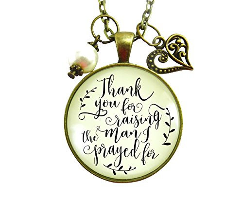 """24"""" Thank You For Raising the Man I Prayed For Christian Mother In Law Necklace Wedding Gift From Bride"""