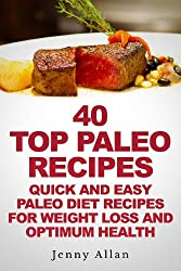 40 Top Paleo Recipes - Quick and Easy Paleo Diet Recipes For Weight Loss & Optimum Health (Paleolithic Diet Cookbook) (English Edition)