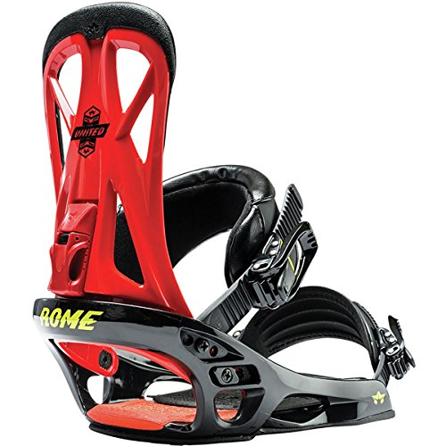 Rome Snowboards United Snowboard Bindings, Red, (Snowboard Toe Straps)