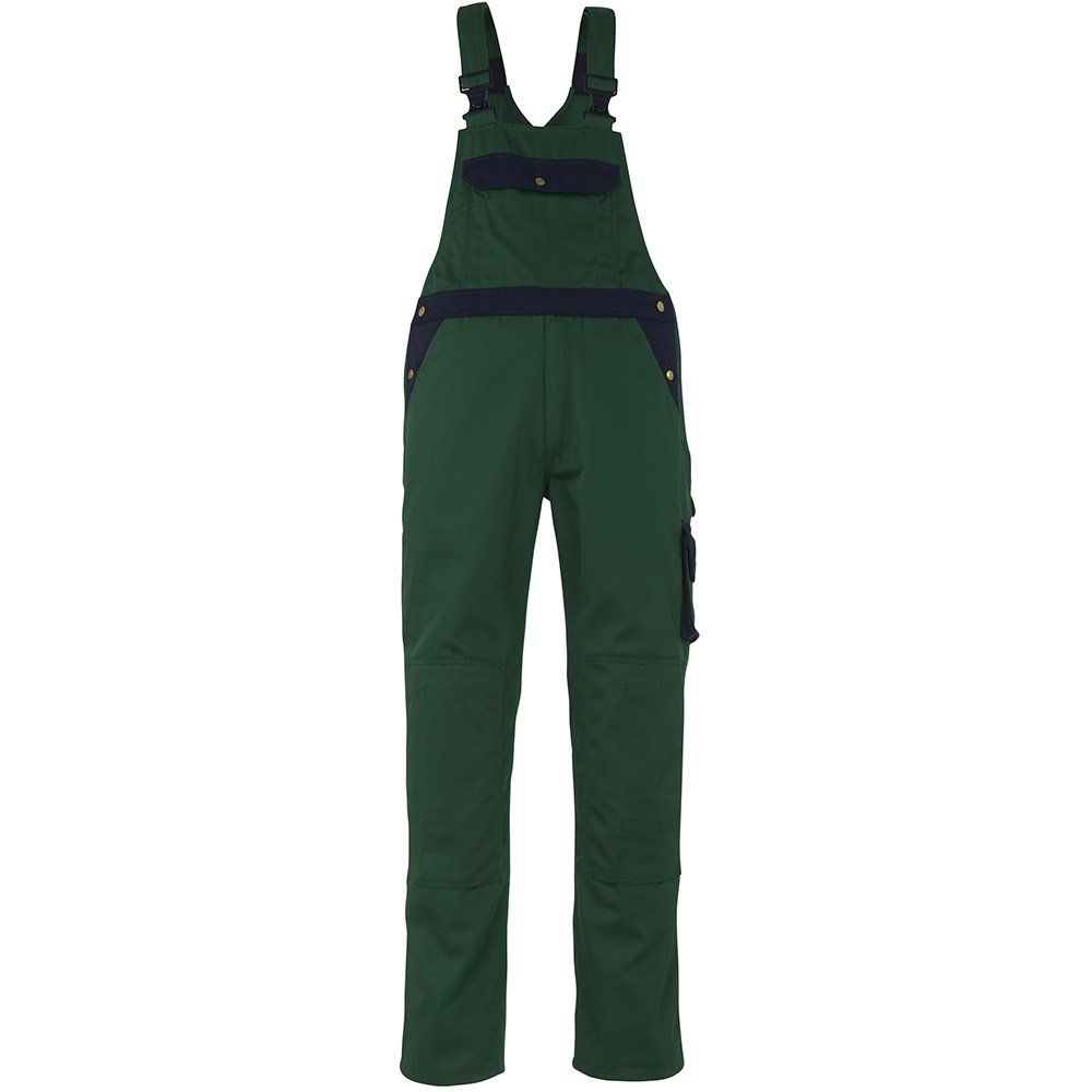 Mascot Milano Bib und Brace Latzhose 90C46, grün / marine, 00969-430-31