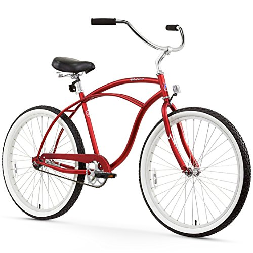 - Firmstrong Urban Man Single Speed Beach Cruiser Bicycle, 26-Inch, Matte Red