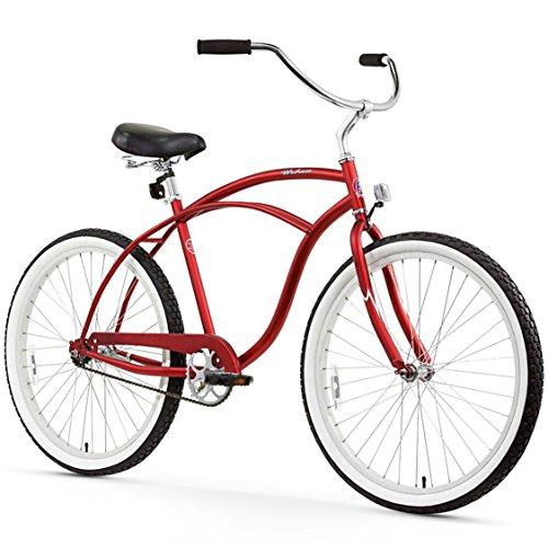 Firmstrong Urban Man Single Speed Beach Cruiser Bicycle, 26-Inch, Matte Red (Speed Single Cruiser Bike)