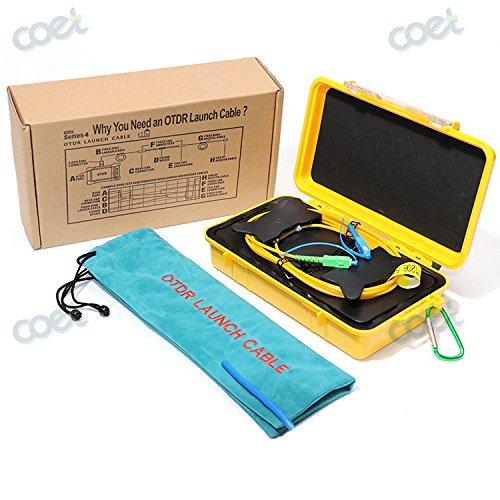 Fiber Optic OTDR Launch Cable Box 1000m for Singlemode SM 1310/1550nm OTDR Dead Zone Eliminator Fiber Rings (SC-UPC/SC-UPC) (Otdr Launch Cable)