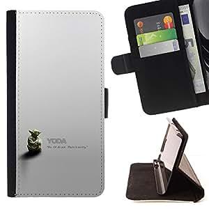 Momo Phone Case / Flip Funda de Cuero Case Cover - Minimalista Yoda - HTC Desire 626