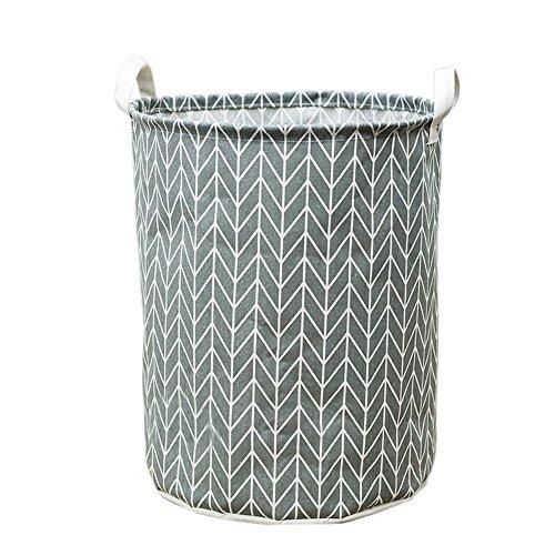 Waterproof Canvas Foldable Laundry Clothes Storage Basket Muranba (C)