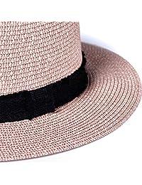 accsa Mujer UPF50 + Sombrero de paja de ala ancha Panama Bucket Fedora Beach Sun Hat
