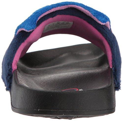 Sandal Slide Navy Plush Take BOBS Women's 2nd Animal Skechers O0qaFF
