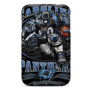 PhilHolmes Samsung Galaxy S4 Shockproof Cell-phone Hard Cover Provide Private Custom Attractive Carolina Panthers Pictures [TQu1274aqMG]