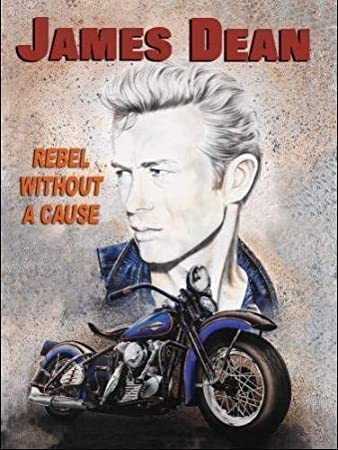 James Dean Rebel Without A Motorrad Fahrrad Icon Of Silber