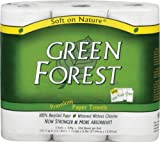 Green Forest 100% Recycled Paper Towels, 104 count, 3 rolls (Pack of 10)