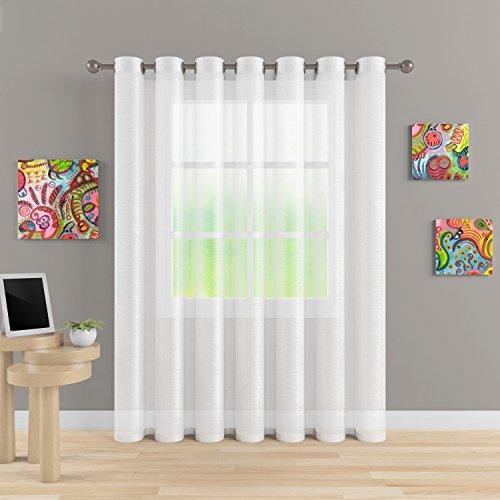 Grommet Semi Sheer Luxury 1 Double Wide Curtain Panel Window