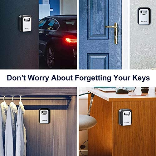 Caja de la cerradura de la puerta llave de la cerradura del hogar Soporte de la cerradura Seguridad segura de 4 d/ígitos Almacenamiento al aire libre para la oficina Garaje de la casa Agentes de biene