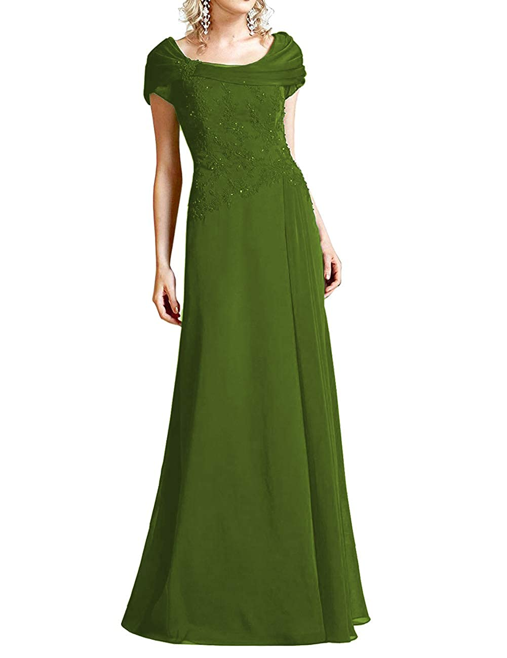 Olive Green H.S.D Mother of The Bride Dresses Lace Formal Gowns Long Evening Dress Prom Wrap Shawl