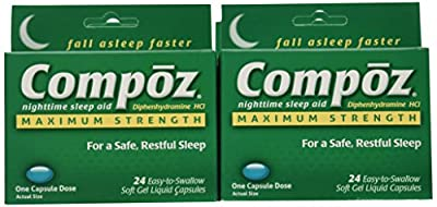 Compoz Nighttime Sleep Aid, Maximum Strength, Soft Gel Liquid Capsules