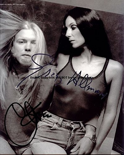 gregg-allman-cher-autographed-preprint-signed-11x14-poster-photo