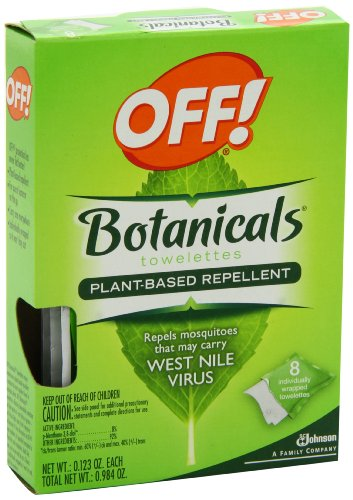 OFF! Botanical Towelettes Plant Based Repellent,8 Towelette.