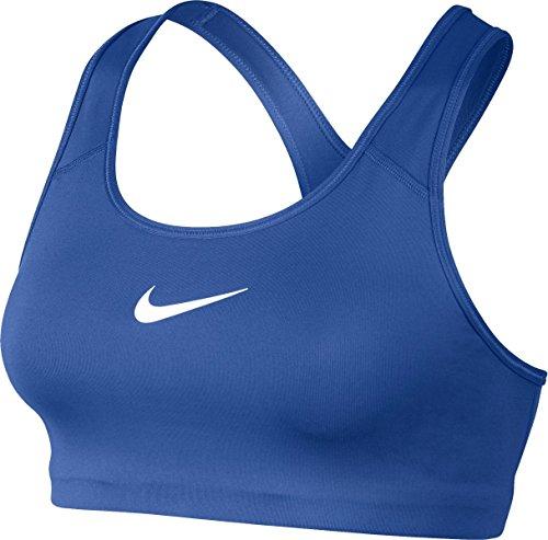 NIKE Womens Dri-Fit Racerback Sports Bra Blue L