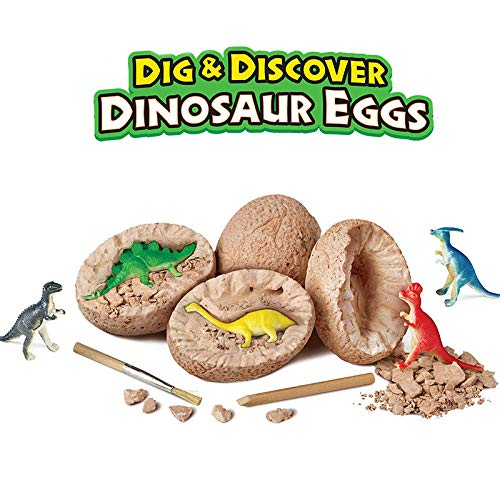 Revanak Dinosaur Eggs Kit Dig it Up - 12 Packs Mystery Excavation Adventure Discover Dinosure Eggs Toys- Science STEM Learning Kids Activity and Imagination Development (12 Packs) ()