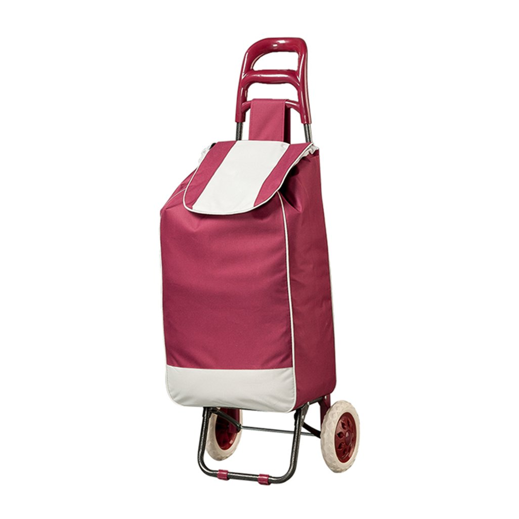 GLJ Folding Shopping Cart Luggage Cart Shopping Cart Metal Removable and Washable Trolley