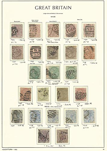 Great Britain Stamp Collection on Lighthouse Page 1873-80, 66//95 SCV $3885