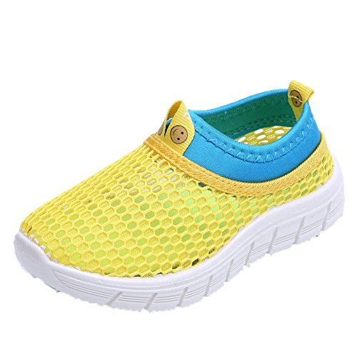 CIOR Kids Breathable Water Shoes Slip-on Sneakers For Running, Pool, Beach, Toddler/Little Kid/Big Kid,sk205yellow,26 0
