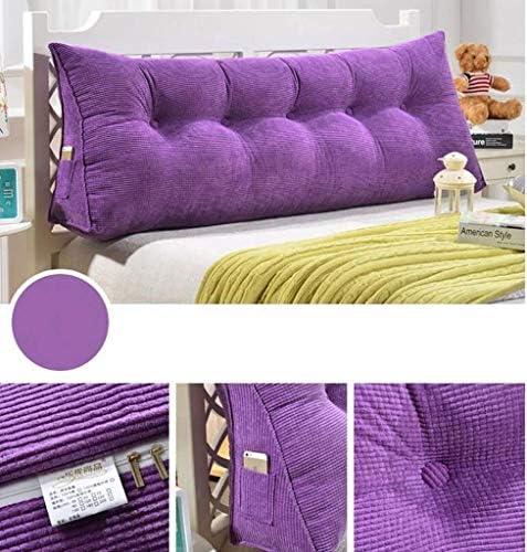 LFOZ Canapé-lit Grand Coussin Triangulaire, Coussin tête de lit de Chevet, Oreiller Double Lecture Tatami Amovible Coussin de Soutien Lombaire (Color : H, Size : 70x50x20cm)