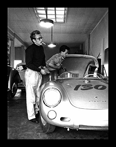 - Historical Photo Collection 8 x 10 Photo Framed James Dean In His Death Car On High Qquality Fiji Film Paper