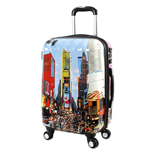 j-world-new-york-art-polycarbonate-carry-on-luggage-time-square