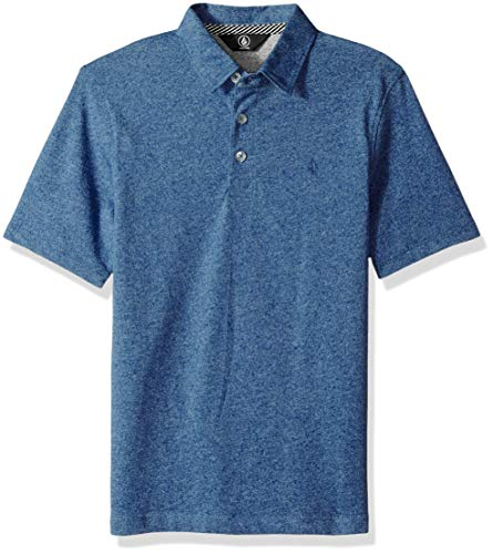 Volcom Boys' Big Wowzer Modern Fit Cotton Polo, LTWT Vintage Medium