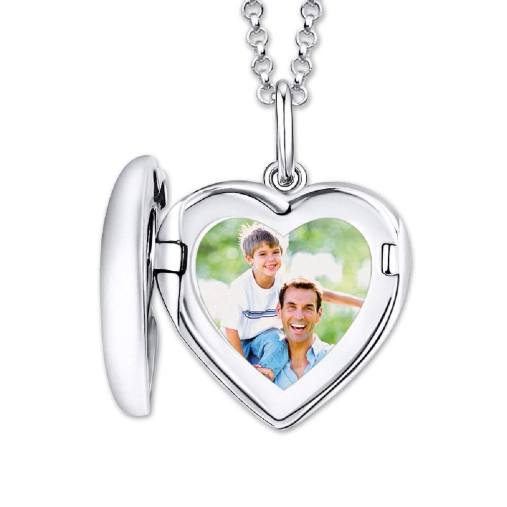 Customized Sterling Silver Heart Picture Locket Necklace for Gift for Your Dear eyesharing Always in My Heart Silver Heart Locket Pendant Necklace Personalized Engraved Photo Necklace