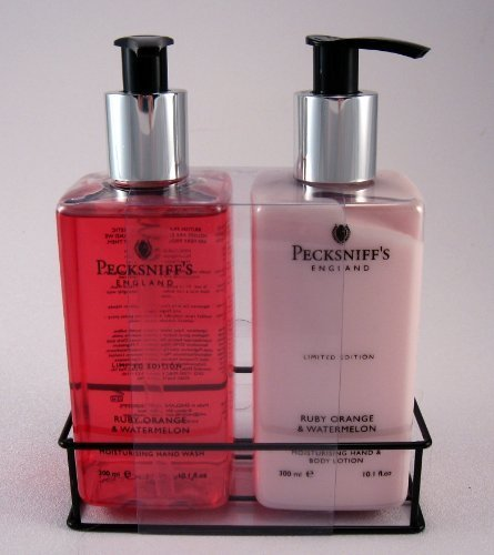 Pecksniff's Hand Wash & Lotion Duo Ruby Orange & Watermelon Limited Edition Set – 10.1 oz each