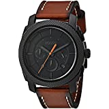 Fossil Mens FS5234 Machine Chronograph Luggage Leather Watch