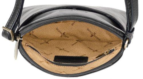 Gianni Conti 904039 Damenhandtasche Leder Borsa Pelle 16x15x7cm (schwarz)