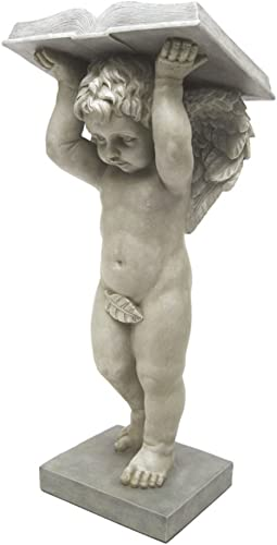 Design Toscano EU1009 Plant a Garden Cherub Statue,antique stone