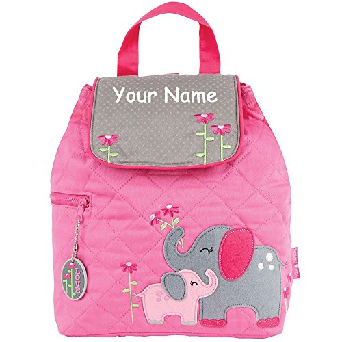 - Stephen Joseph Personalized Quilted Elephant Backpack Book Bag