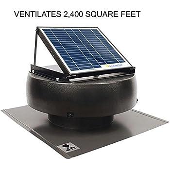 Amazon Com Us Sunlight 9910tr Solar Powered Attic Fan