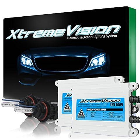 XtremeVision AC 55W HID Xenon Conversion Kit with Premium Slim Ballast - Bi-Xenon 9007 8000K - Medium Blue - 2 Year (Hid Saturn Ion)