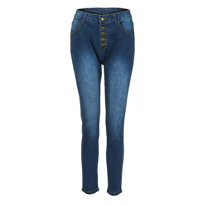 Gusspower Cintura Alta Pantalones Jeans Mujer Elástico Flacos Vaqueros Leggings Push up Mezclilla Pantalones: Amazon.es: Ropa y accesorios