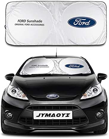 JYMAOYI for Ford Sunshade Windshield Visor Cover Car Window Sun Shade UV Protect Car Window Film for Ford Escort Kuga Territory