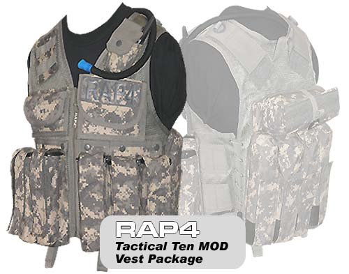 Tactical Ten Modular Vest Package - paintball chest protector by Rap4