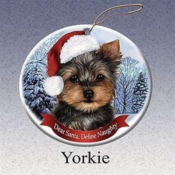 Amazon.com: E&S Pets Yorkie Pup Personalized Christmas ...